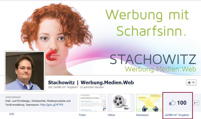 100fans folgen STACHOWITZ bei Facebook