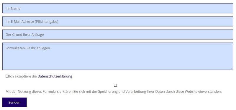 Kontaktformular mit Contact-Form