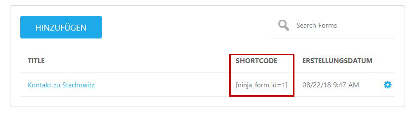 Shortcode-Ninja-Forms
