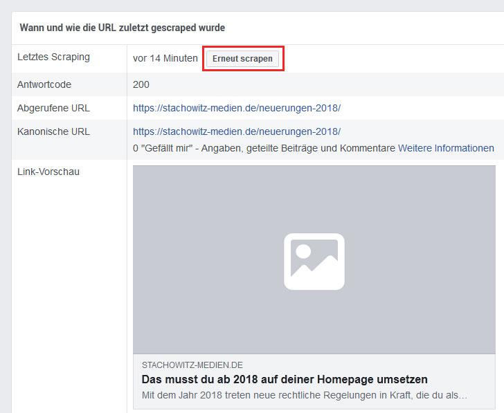 Facebook-scrapen