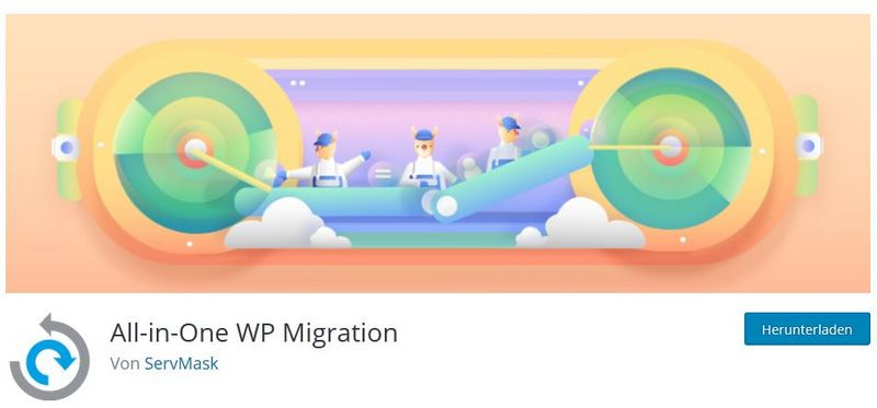Logo des Plugins All-in-One Migrations